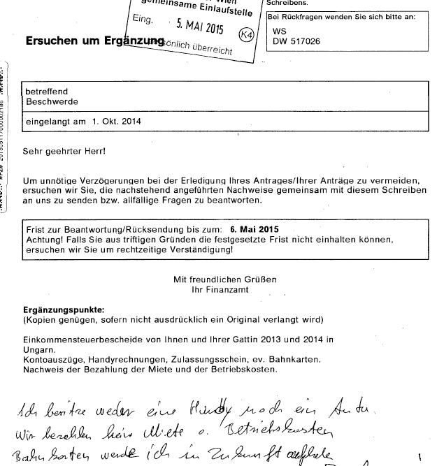 BFG RV/7104714/2015: Bescheidbeschwerde – Einzel – Beschluss ...